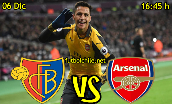 Ver stream hd youtube facebook movil android ios iphone table ipad windows mac linux resultado en vivo, online: Basilea vs Arsenal,