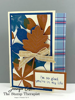 Love of Leaves Bundle by Stampin' Up!®.  I also used the Embroidered Ribbon.  #Stampinup #StampTherapist