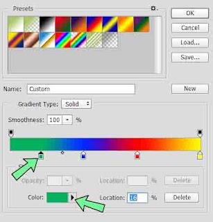 Membuat tulisan berwarna di photoshop, teks berwarna seperti pelangi bisa di buat dengan mudah di adobe photoshop