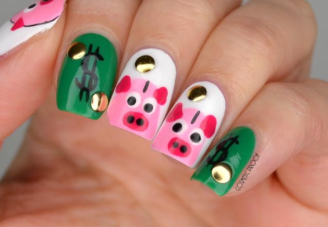 Nails Piggy Bank Aka Saving Money Nail Art Cosmetic Proof