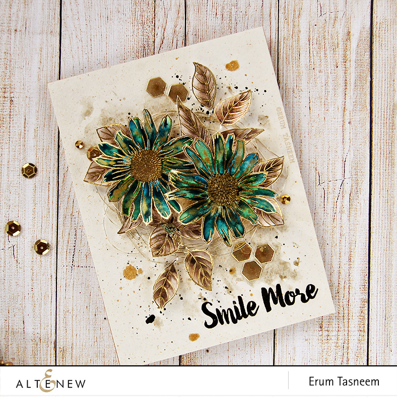 @Altenew Smile More stamp set water colored (Gansai Tambi) by @pr0digy0
