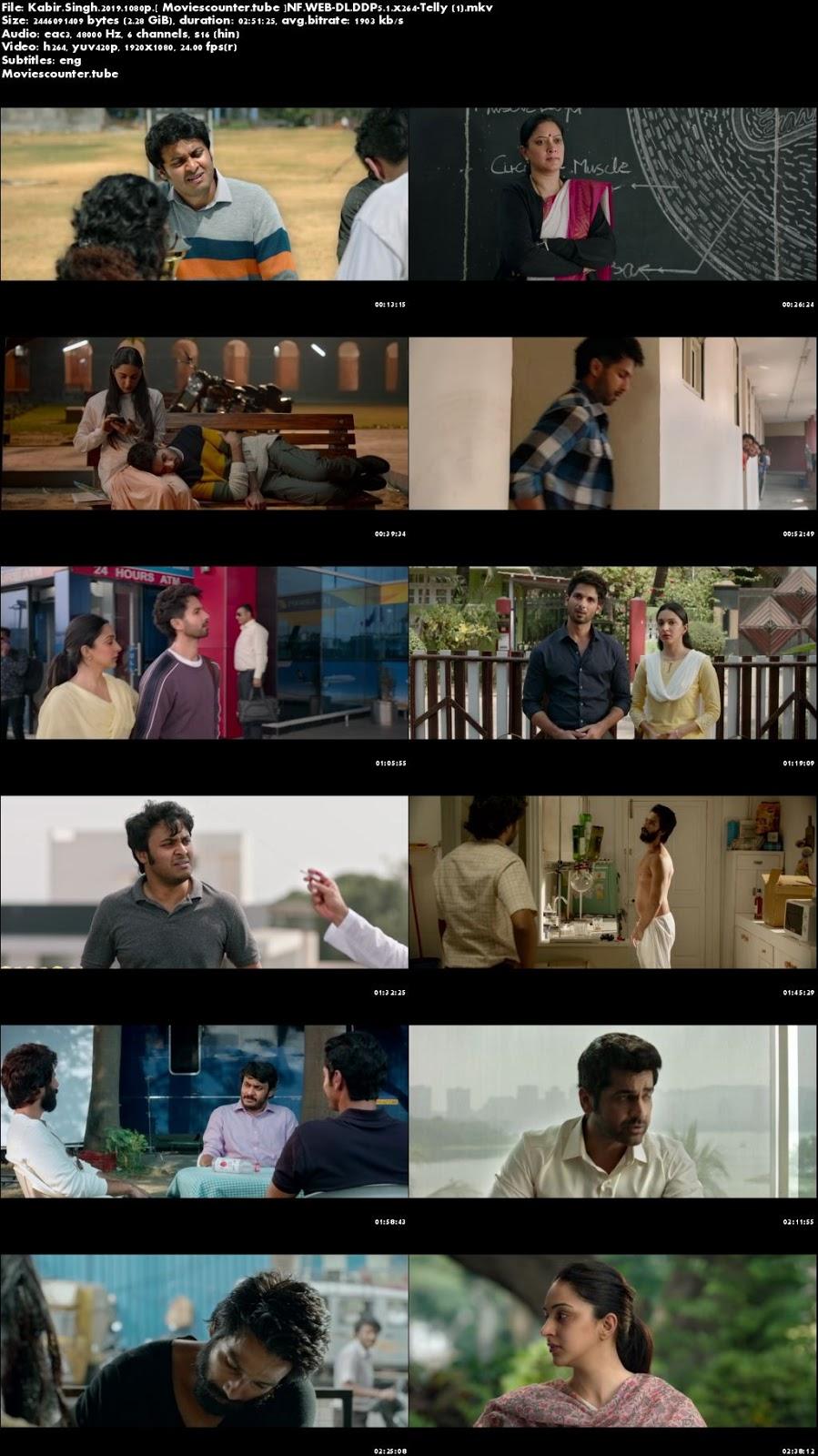 Screen Shots Kabir Singh 2019 Hindi HD 1080p