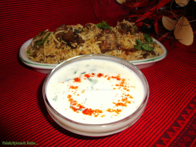 images for Palak Raita Recipe / Palak Ka Raita / Spinach Raita - Spinach In Yogurt