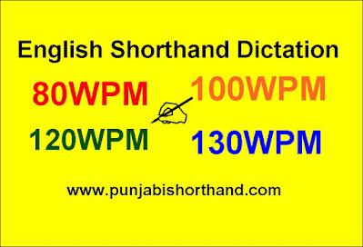English Steno Dictation 80wpm 100wpm 120wpm 130wpm Exercise-7