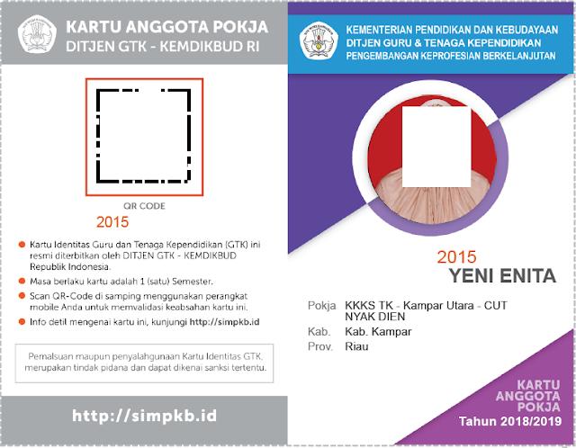 Geveducation:  Cara Cetak Kartu Anggota POKJA SIMPKB 2018/2019
