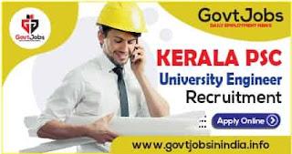 Kerala PSC University Engineer Recruitment