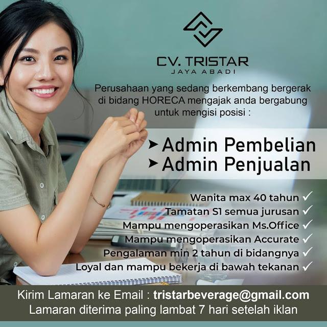Lowongan Kerja Medan Gelar S1 Juni 2021 CV Tristar Jaya Abadi