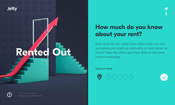 Trend and Inspiration Web Design 2018 - Jetty's Rented Out