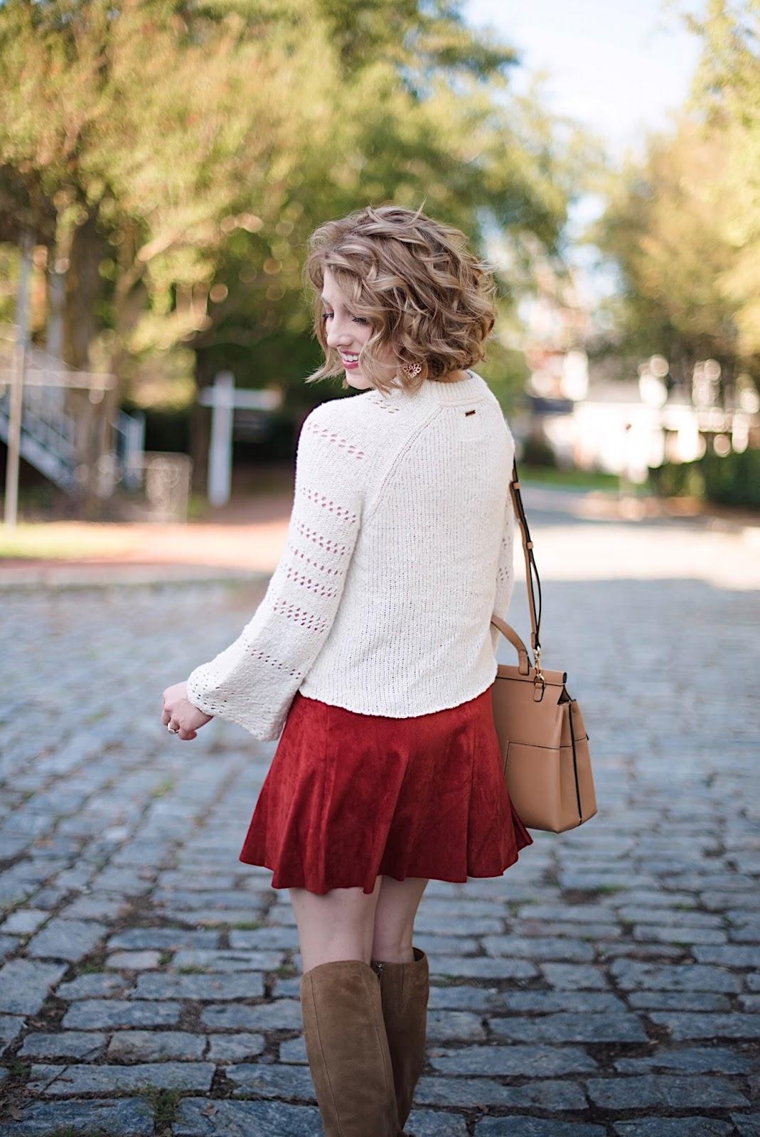 Suede Skirt - Something Delightful Blog