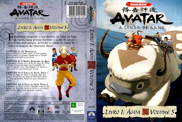Capa DVD AVATAR A LENDA DE AANG LIVRO 1: ÁGUA VOLUME 5