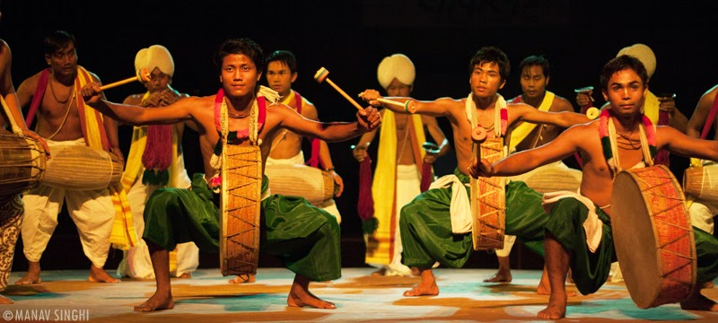 Pung Cholam or Dhol Cholam from Manipur.