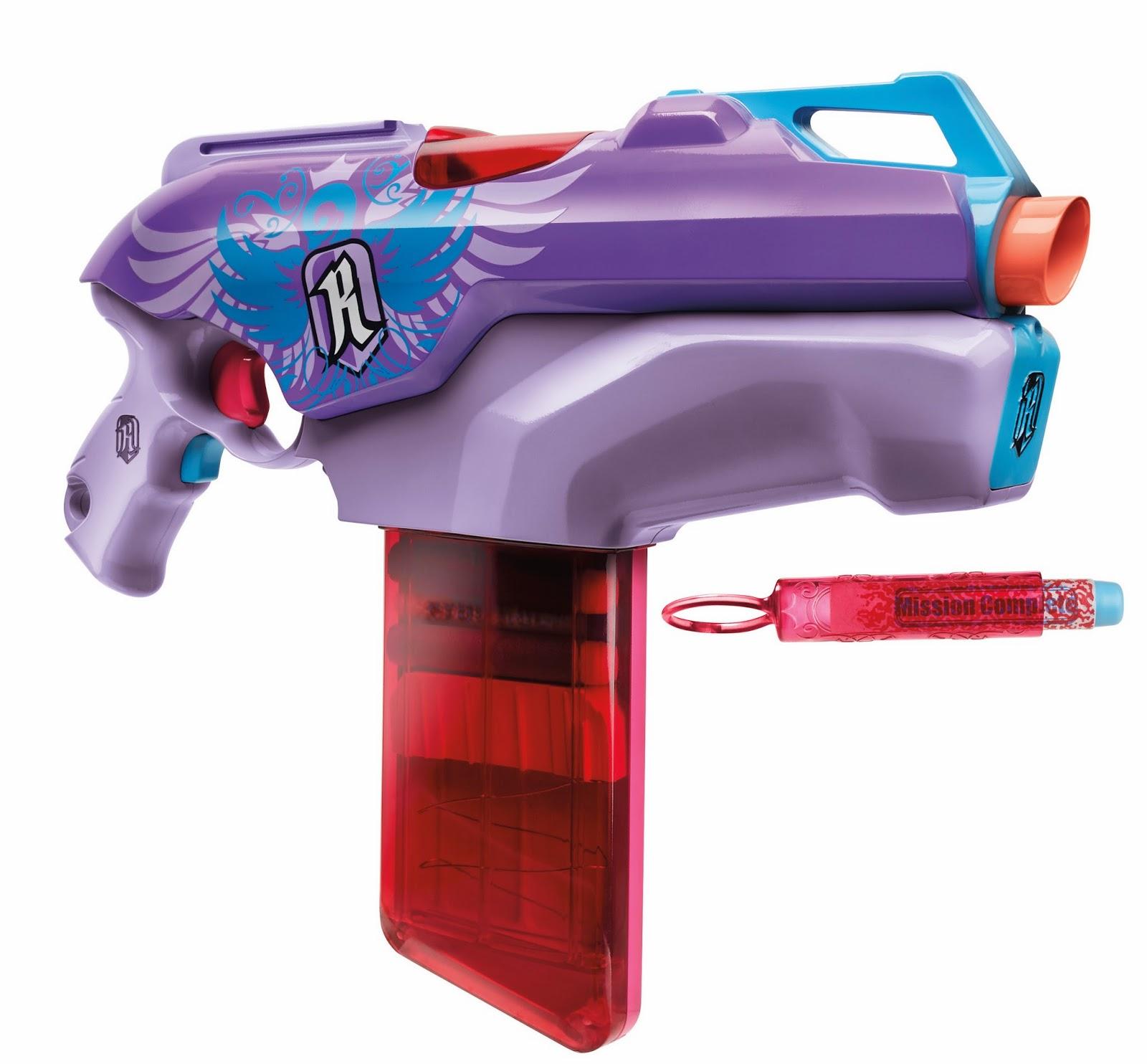 Nerf new york toy fair nerf rebelle for Nerf motorized rapid fire blasting