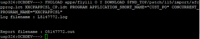 .env file the will be resoled FNDLOAD: command not found issue