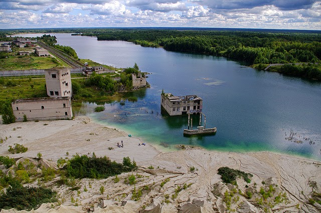 Gate in Abandoned Underwater Prison, Estonia