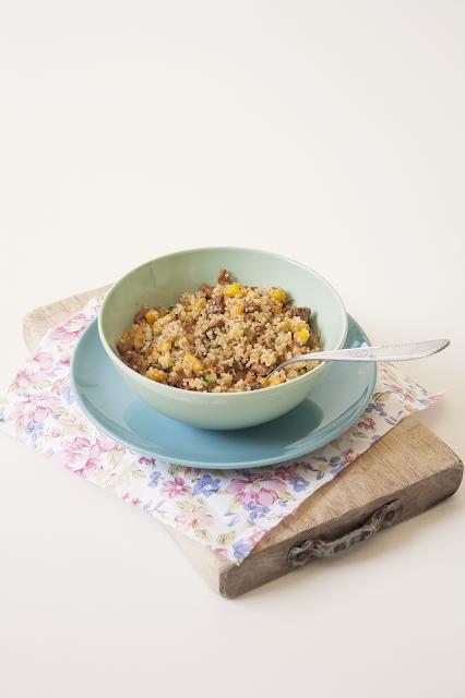 Quinoa con straccetti veggie