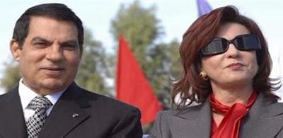 الرئيس المخلوع زين العابدين بن على وزوجته ليلى الطرابلسي