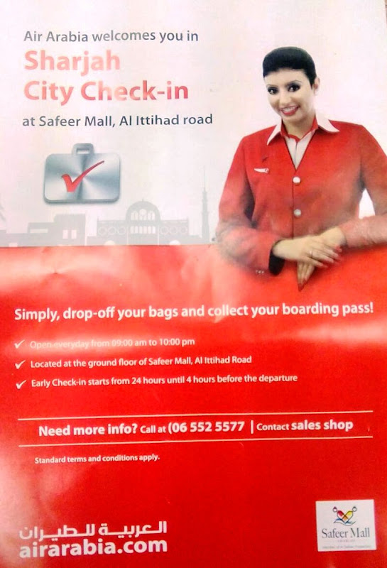 Air arabia check in at safeer mall contact number