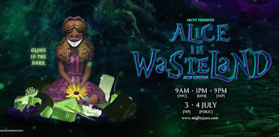 Alice in Wasteland Acid Edition Glow in the Dark Resin Figure by ABCNT x Mighty Jaxx