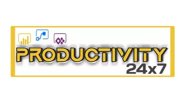 24x7 productivity logo design 1