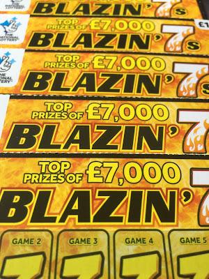 Blazin' 7s National Lottery Scratchcards