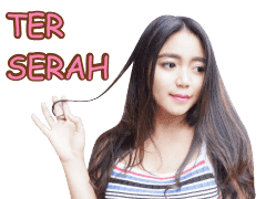 Sticker WhatsApp Cute Raden Ayu Novita