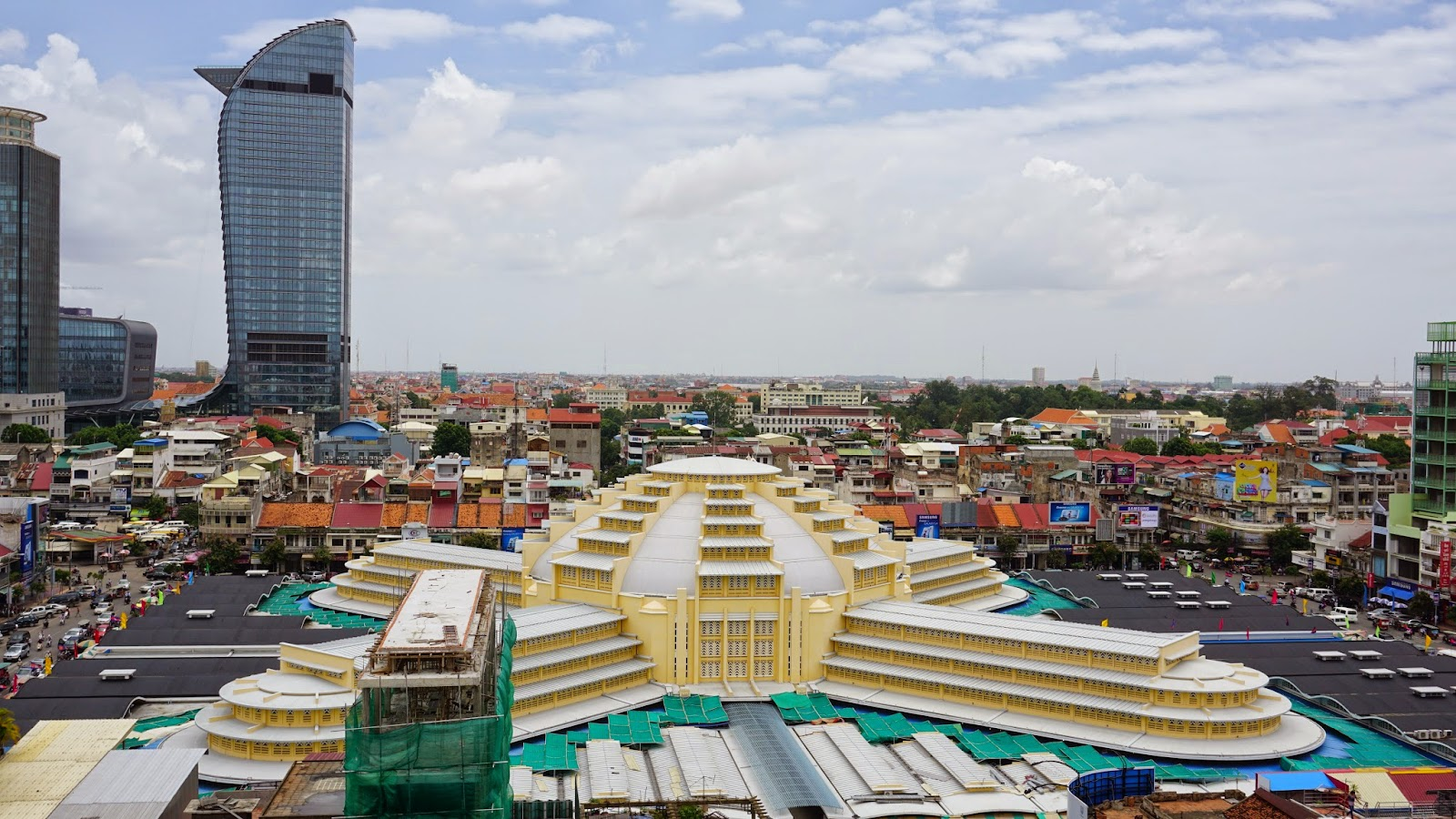 View of Phnom Penh from the roof area atop Sorya shopping centre