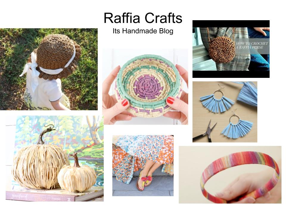 easy summer perfect craft and crochet projects to DIY with raffia