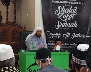 Syekh Ali Jaber Sudah Sehat, Lanjutkan Ceramah di Bandarlampung