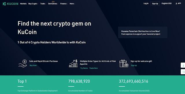 Screenshot Halaman Website KuCoin Token (KCS) Image