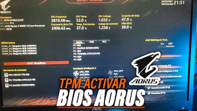 activar tpm aorus