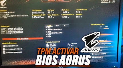 Como Activar TPM 2.0 en Placa Base Gigabyte Aorus