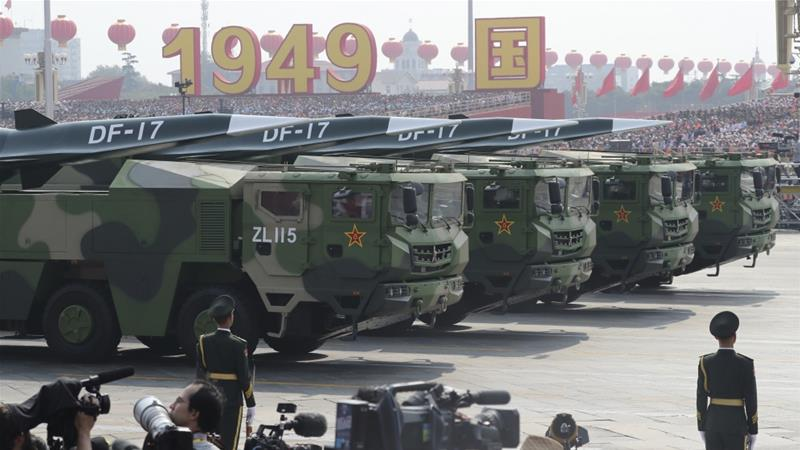 China displays new hypersonic nuclear missile on 70th anniversary