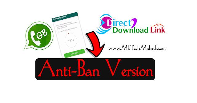 GB Whatsapp Anti ban version