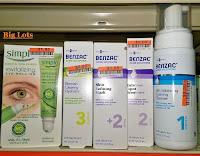 Big Lots haul review Benzac Acne cleanser spot treatment mask moisturizer sensitive skin