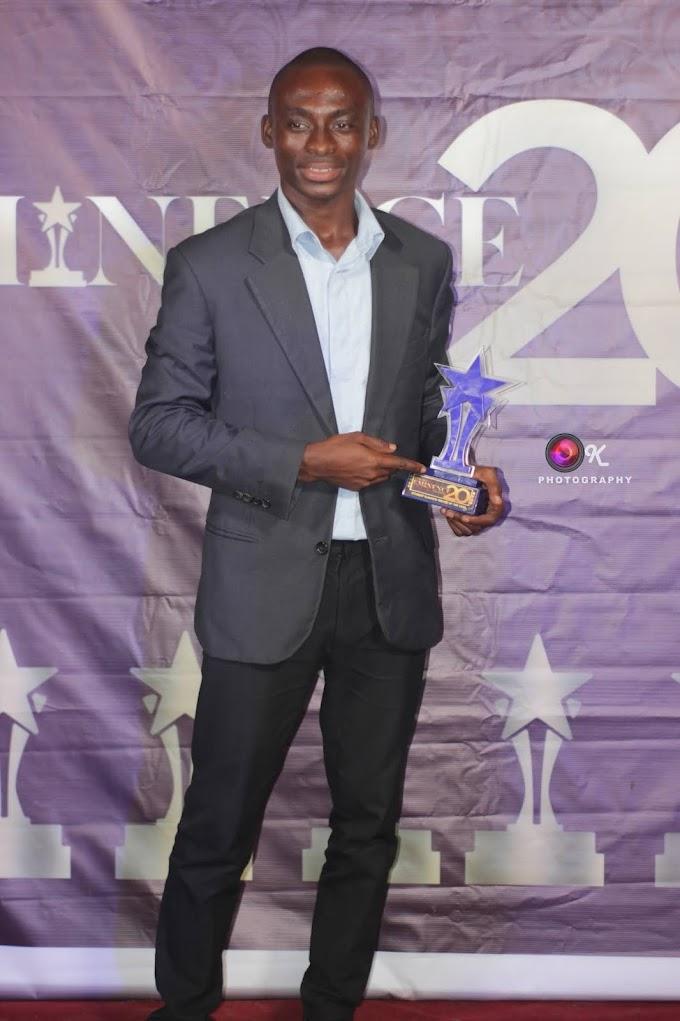 Emmanuel Donkor wins 2020 5th GIJ Eminence Awards Student Blogger/Writer of the Year