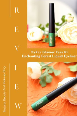 Nykaa GLAMOReyes Green Liquid Eyeliner 03 Enchanting Forest Review, Swatches & Other Details