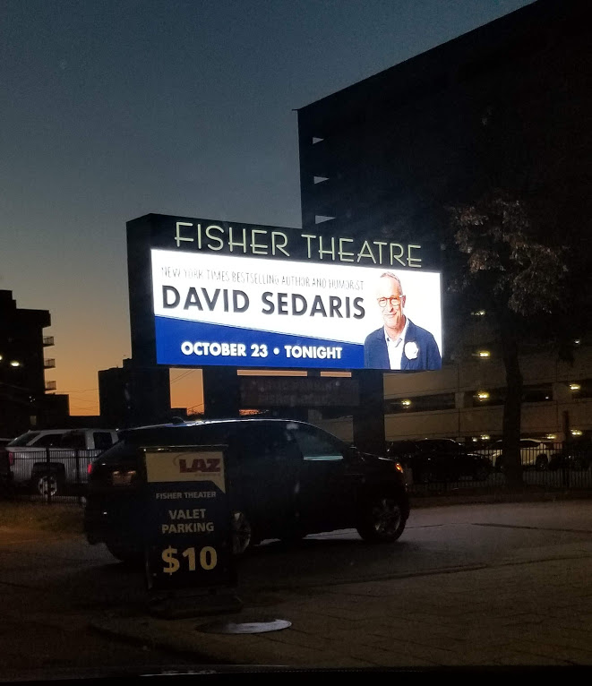 David Sedaris, Fisher Theatre, Detroit