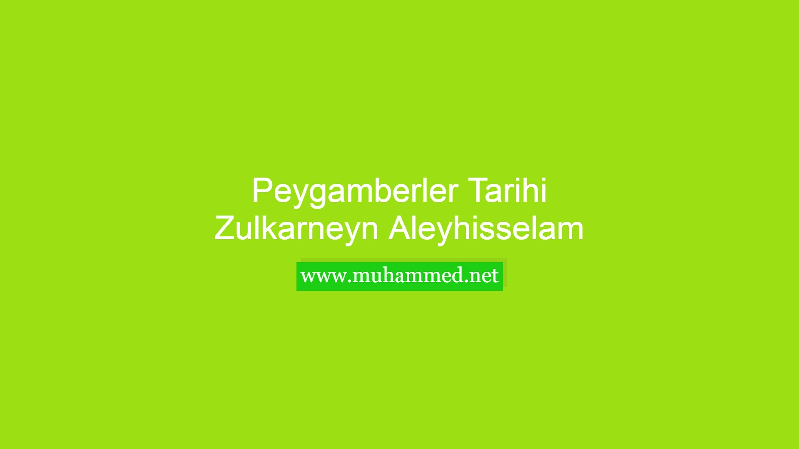 Hz. Zulkarneyn (a.s.)