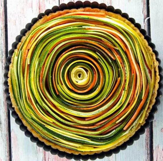 SPIRAL VEGETABLE TART #vegan #vegetarian