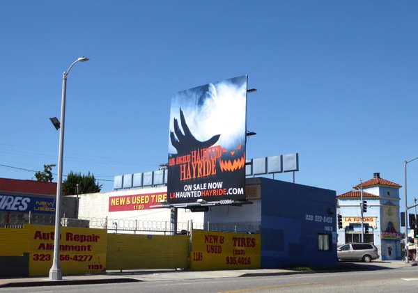 Los Angeles Haunted Hayride 2015 billboard