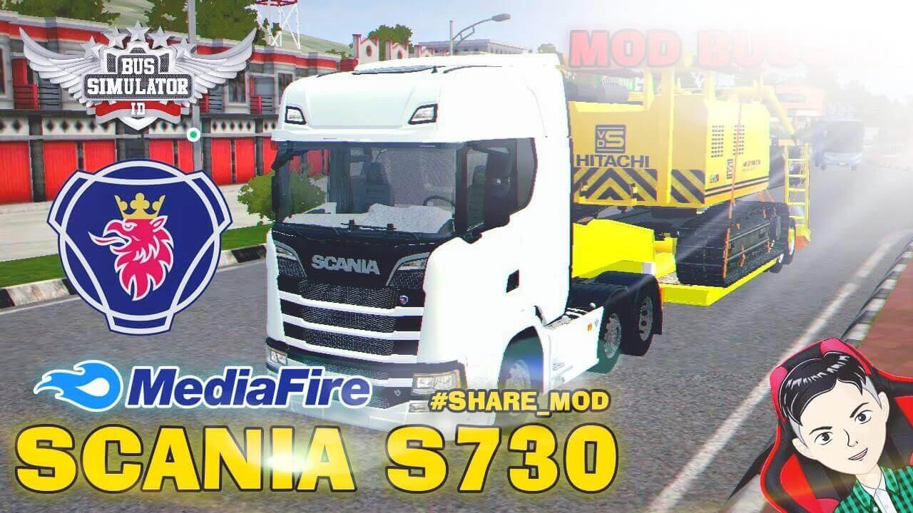 Mod Bussid Scania S730 Truck