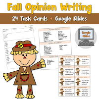 Fall Opinion Writing Google Slides