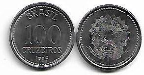 100 Cruzeiros, 1985