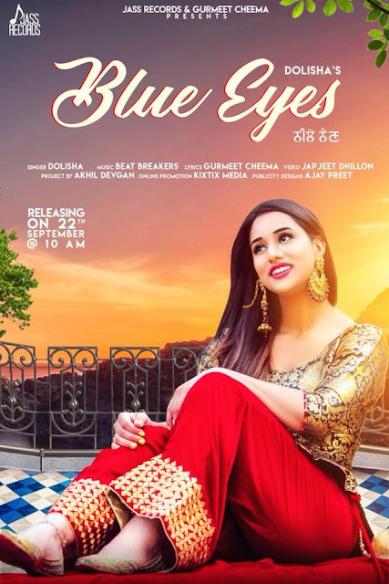Blue Eyes Punjabi Song Lyrics  - Dolisha