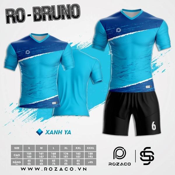 Áo Không Logo Rozaco RO-BRUNO Màu Xanh Ya