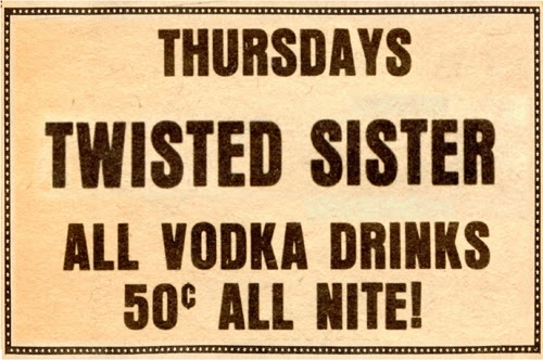 Twisted Sister drink ad