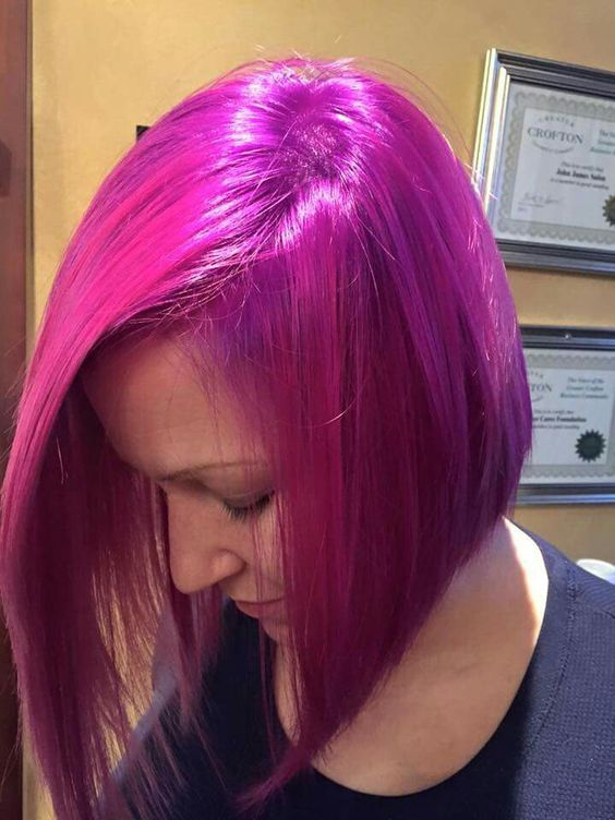 In Love With Magenta Hair Colors The Haircut Web