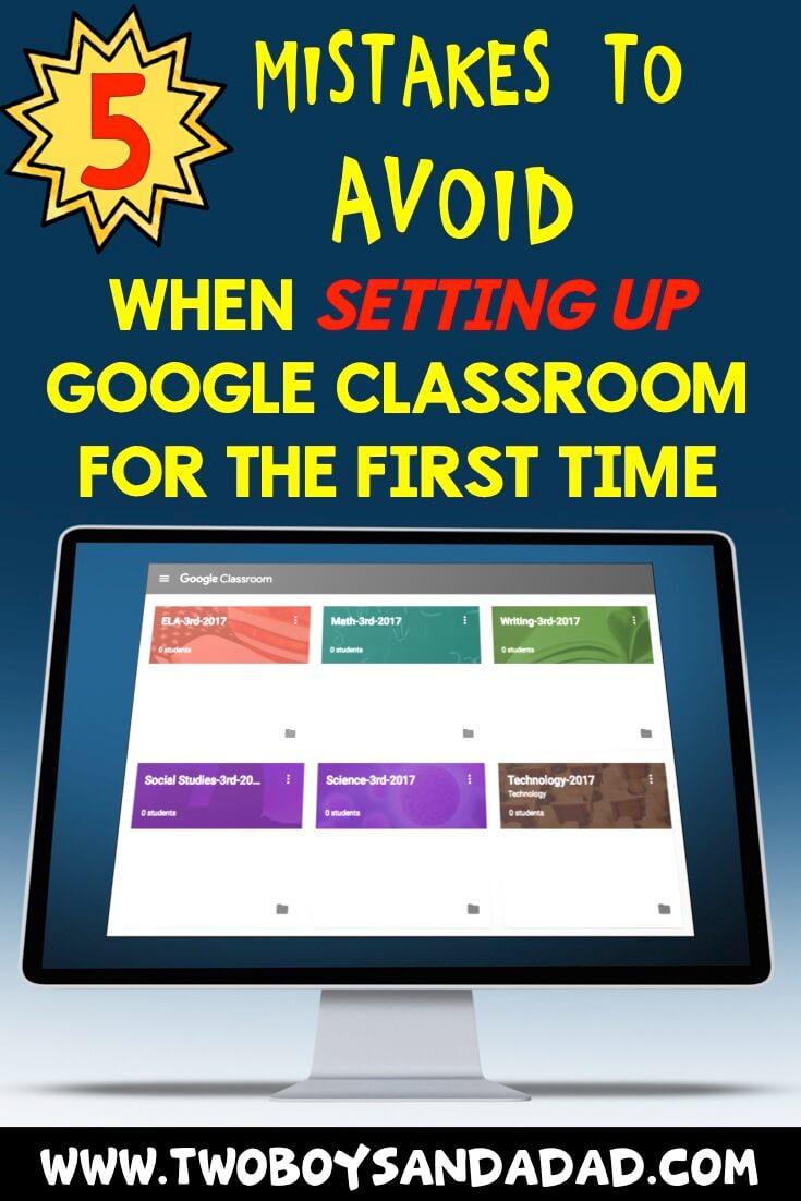 Google Classroom set up