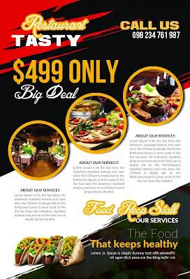 تحميل 10 فلاير لإعلانات المطاعم - Restaurant Flyer Templates Bundle