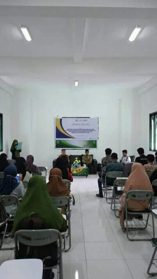 Himpunan Mahasiswa Program Studi Manajemen bisnis syariah, telah melakukan dialog publik